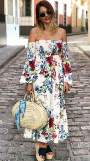 Sukienka Zara Kwiaty Odkryte Ramiona Nowa 36 S 7462754432 Oficjalne Archiwum Allegro Dresses Fashion Off Shoulder Dress