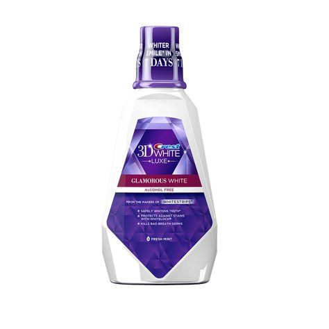Crest 3D White Luxe Glamorous White Multi-Care Whitening Mouthwash
