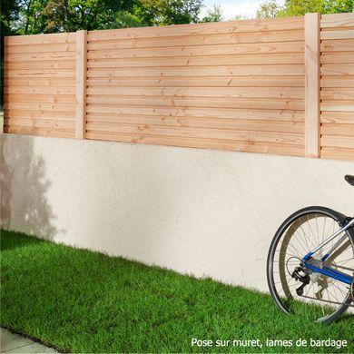 Bien Choisir Votre Sol De Terrasse Et Votre Cloture De Jardin Cloture Jardin Bois Panneau Bois Jardin Et Separation Jardin