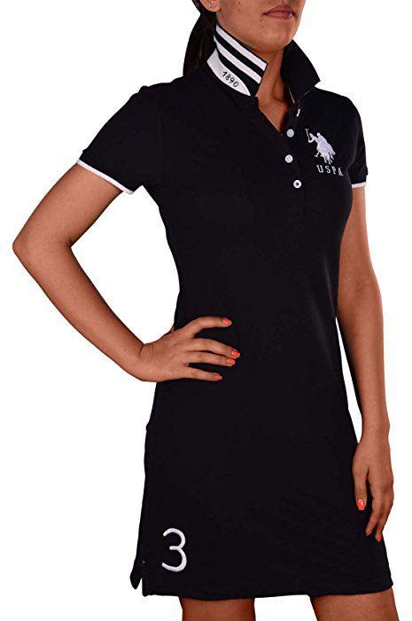 U. S. Polo Assn. Women's Big Pony Shirt Dress at Amazon