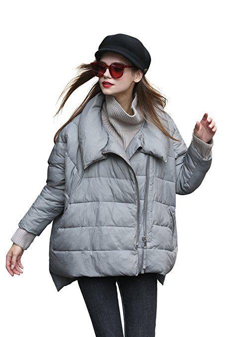 Jacke Damen Mantel Damen Steppmantel Damen Grau Kurzmantel
