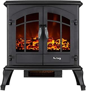 E Flame Usa Jasper Freestanding Electric Fireplace Stove 3 D Log And Fire Eff Free Standing Electric Fireplace Electric Fireplace Recessed Electric Fireplace