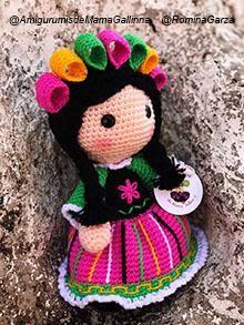 Realiza esta hermosa muñeca típica mexicana creando así momento inolvidables. NOTA:DESCARGA EL PATRÓN AL MOMENTO DE TU COMPRA. Gracias por tejer ilusiones con nosotros.