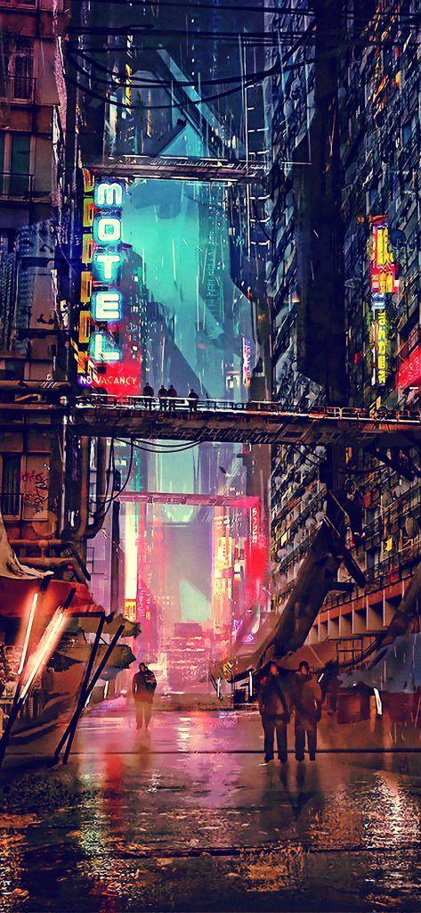 Iphone X Wallpaper Screensaver Background 193 Cyberpunk 4k
