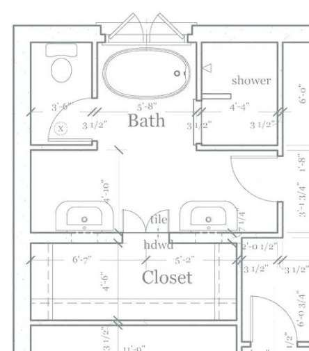 Bathroom Layout 8x10 Master Bath 40 Ideas Bathroom Design Layout Bathroom Floor Plans Bathroom Design Plans