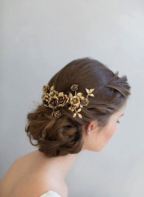Bridal headpiece Rose gardens headpiece Style 775 by myrakim Fancy Hairstyles, Wedding Hairstyles, 1800s Hairstyles, Princess Hairstyles, Hairstyle Ideas, Bridal Headpieces, Bridal Hair, Fascinator, Bijou Box