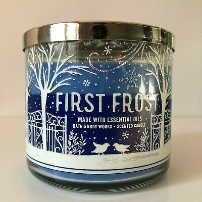 1 Bath /& Body Works FIRST FROST Scented Large 3-Wick Candle 14.5 oz