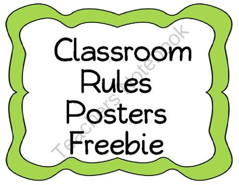 Classroom Rules Freebie Posters from Teaching in the Primary Grades on TeachersNotebook.com (6 pages)  - Print these free classroom rules posters and use them in your classroom. Rules included are:  1. We are respectful 2. We are responsible 3. We always try our best