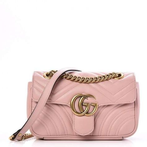 Gucci GG Marmont Shoulder Bag Matelasse Mini Light Pink