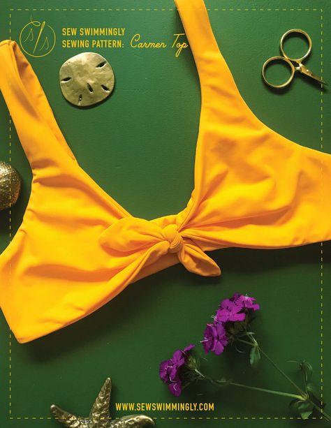 DIY reversible bikini top sewswimmingly DIY I swimwear + lingerie sewing tutorials + patterns + fabr
