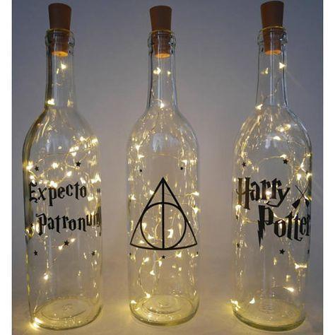 Wine Bottle Lights Harry Potter Decor Fairy Light Bottle Harry Potter Room Decor Harry Potter Christmas Harry Potter Diy