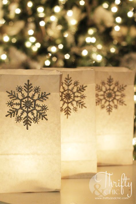 Christmas Luminarias - I grew up in a town that put up luminarias instead of Christmas lights. I have always loved them and how they looked. I decided that this…