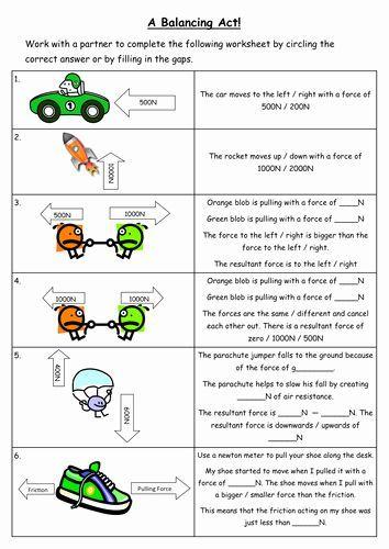Forces And Motion Worksheet Elegant Resultant Force Worksheet By Chempixie Teach Chempixie Elegant Force Fo Kraft Und Bewegung Schulideen Unterrichten