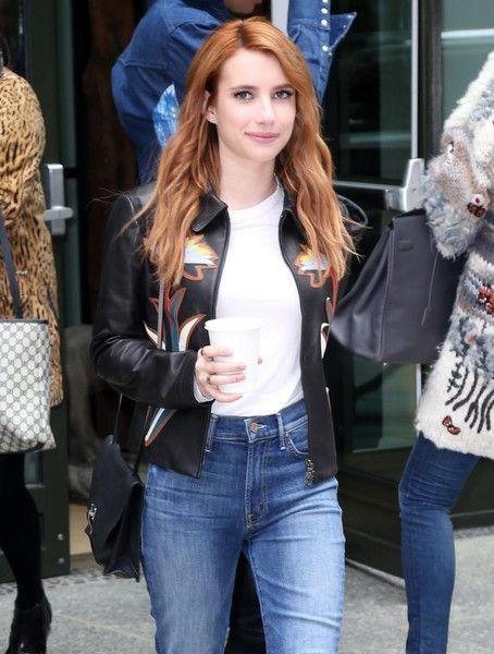'Scream Queens' actress Emma Roberts is spotted out and about in NYC, coffee in hand.
