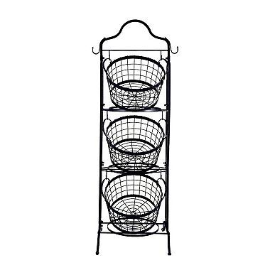 3 Tier Floor Stand Bushel Basket Sam S Club Bushel Baskets Decorative Storage Baskets Decorative Storage