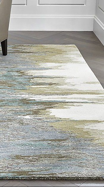 Birch Cyan Wool Blend Abstract Rug 9 X12 Reviews Crate And Barrel In 2020 Abstract Rug Rugs Cream Living Rooms