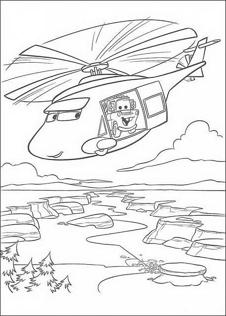 Elicottero Disney Cars Disegno Da Colorare Disegni Da