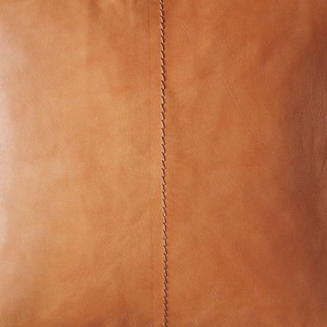 Cognac Leather Throw Pillow   Ethically Crafted in Argentina – The Citizenry