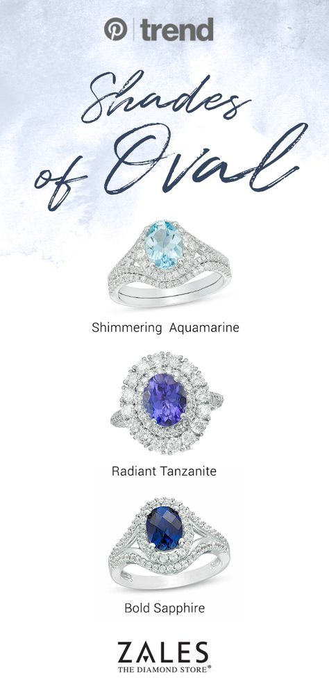 Something Blue For Your Special Day Ovalrings Aquamarine Tanzanite Sapphire Engagementrings White Gold Wedding Rings Gold Diamond Wedding Band