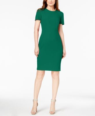 Calvin Klein Seamed Scuba Crepe Sheath