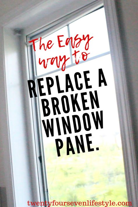 Replacing Broken Glass Pane In Vinyl Window Frame Twenty Four Seven Lifestyle Window Glass Replacement Diy Window Replacement Window Replacement