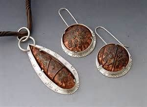 Sterling Silver Pendant and Earrings with Thick Bezel Tab ...