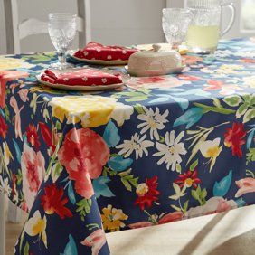 The Pioneer Woman Fiona Floral Tablecloth 70 Round Walmart Com In 2020 Floral Tablecloth Pioneer Woman Kitchen Pioneer Woman