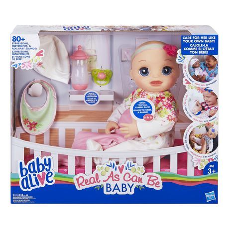 Baby Alive Real As Can Be Baby Blonde Sculpted Hair Walmart Canada Baby Alive Baby Alive Dolls Realistic Baby Dolls