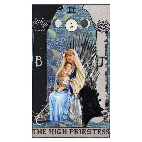 "lilian • art • design on Instagram: ""the high priestess. 👑 #godsavethefuture #tarotcollage #digitalcollage #tarot #majorarcana #collage_tarot #thedesignfix #thehighpriestess…"""