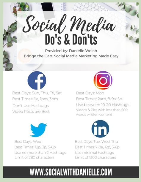 Social Media Dos & Donts for Small Businesses