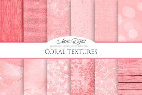Coral Background Textures Textures Tekstury I Fon