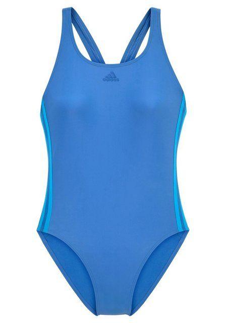 Badeanzug, im sportlichen 3 Streifen Design | Badeanzug