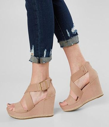 Details about  /Womens summer round toe flat heel ankle boots faux suede wedges zippers