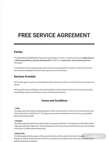 642 Free Sample Agreement Templates Edit Download Template Net Templates Agreement Word Doc