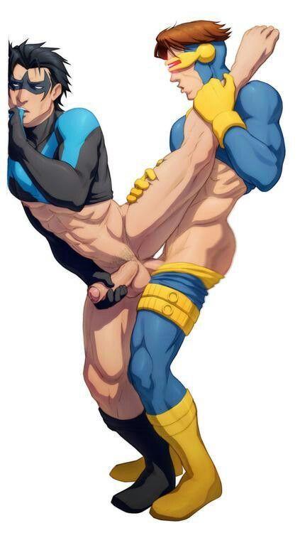 Gay superheroes hentai