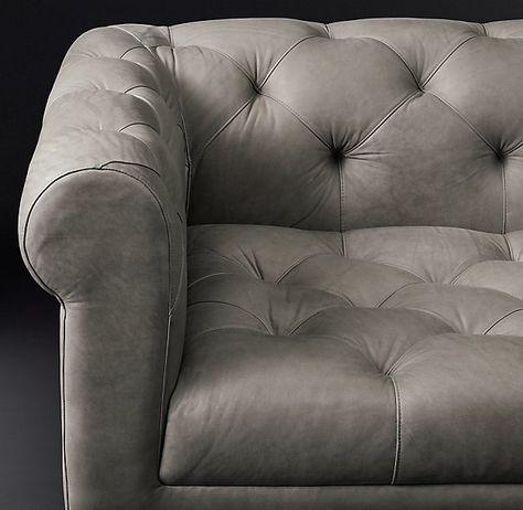 rh modern - italia chesterfield leather sofa   rh modern, Attraktive mobel