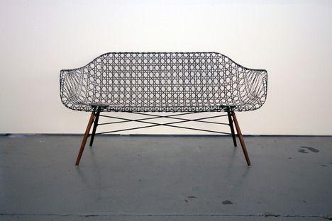 Matthew Strong Carbon Fiber Sofa Eames Base