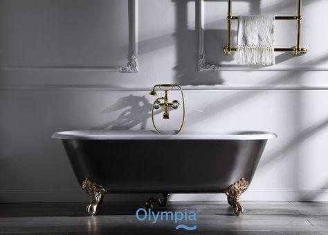 Vasca Da Bagno Zampe Di Leone : Stanza da bagno con pavimento in legno massello medio cheshire