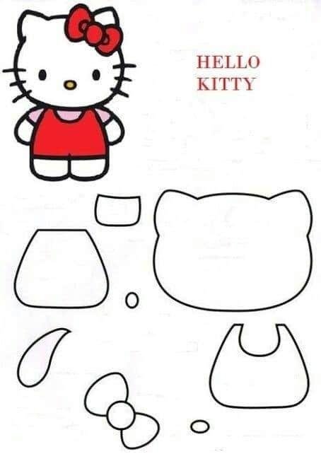 Pin By Neda Karimnia On Dolls In 2020 Hello Kitty Crafts Hello Kitty Colouring Pages Hello Kitty Coloring