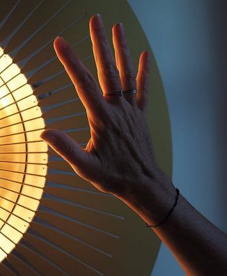 The Design Of Ardent Heating Device Was Inspired By The Sun In 2020 Heating Device Radiant Heaters Infrared Light Bulb
