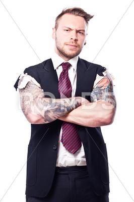 Tattoo Businessman 6 Stock Photo Image 32345765 Stock Photos