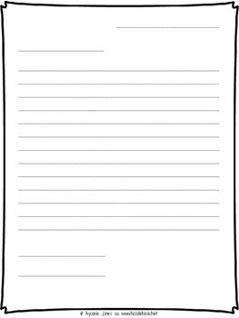 Letter Writing Printable Template This Simple Printable Outline Can Be Used Fo Friendly Letter Template Letter Writing Template Friendly Letter