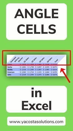 How to Angle Cells in Excel (+ video tutorial)