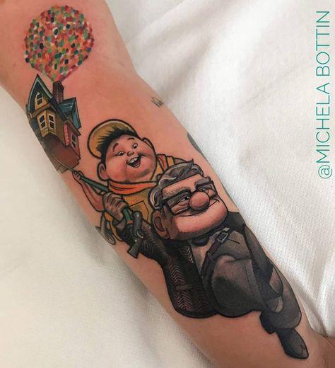 Tätowierungsmodelle und Entwürfe #disney #disneypixar #pixar #pixarmovie #dianeyup #up #uptattoo #lady   #tattoo von @michelabottin