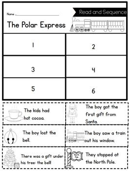 Polar Express Sequencing Printable Polar Express Activities Polar Express Writing Activities Polar Express Writing