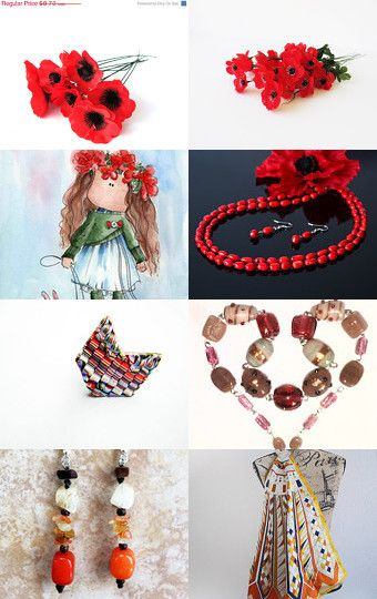 Poppy Red by Gabbie on Etsy