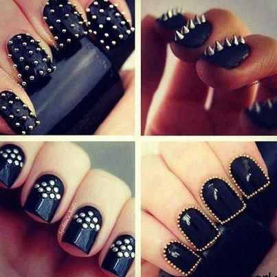 Rihanna Spiked Claw Nails: How To DIY And More Studded Nail Art ...