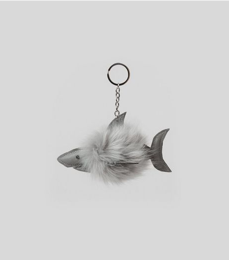 Shark Pom Pom Keyring