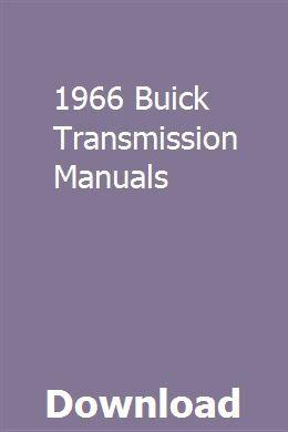 1966 Buick Transmission Manuals Repair Manuals Manual Installation Manual
