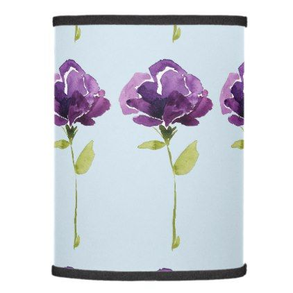 Purple Flower Lamp Shade Home Gifts Ideas Decor Special Unique Custom Individual Customized Individualized Flower Lamp Shade Shade Flowers Purple Flowers